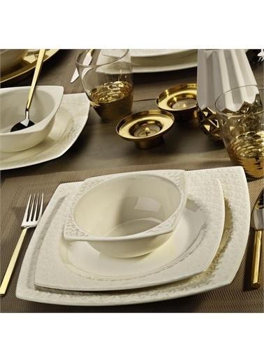 Kütahya Porselen Kütahya Porselen Bone Versa 24 Parça Yemek Takımı BNVRS24Y200 Renkli